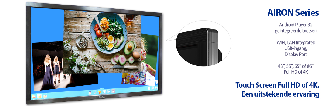 "Touch Monitor Airon Series 55"" 65"" of 84"" - 32 touch points"
