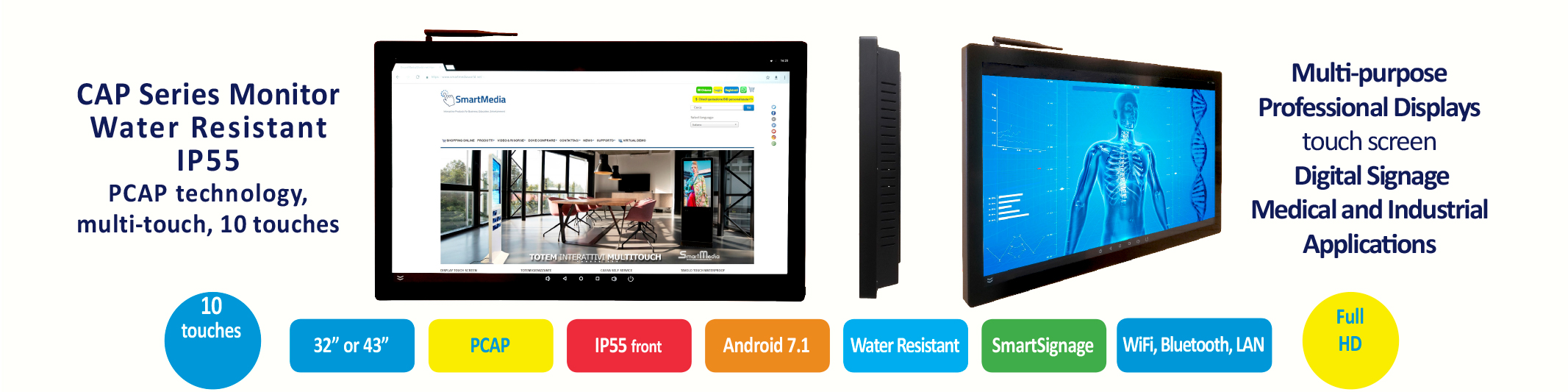 Monitor CAP Series | Display touch Screen PCAP