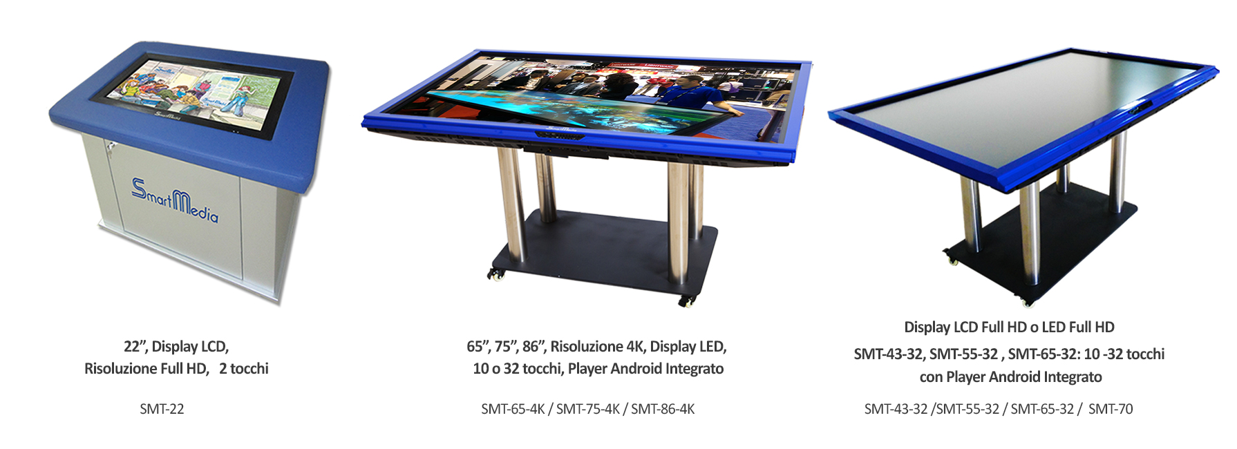 Tavoli interattivi multimediali smartmedia tecnologia multi touch smartmedia srl - Tavolo touch screen ...