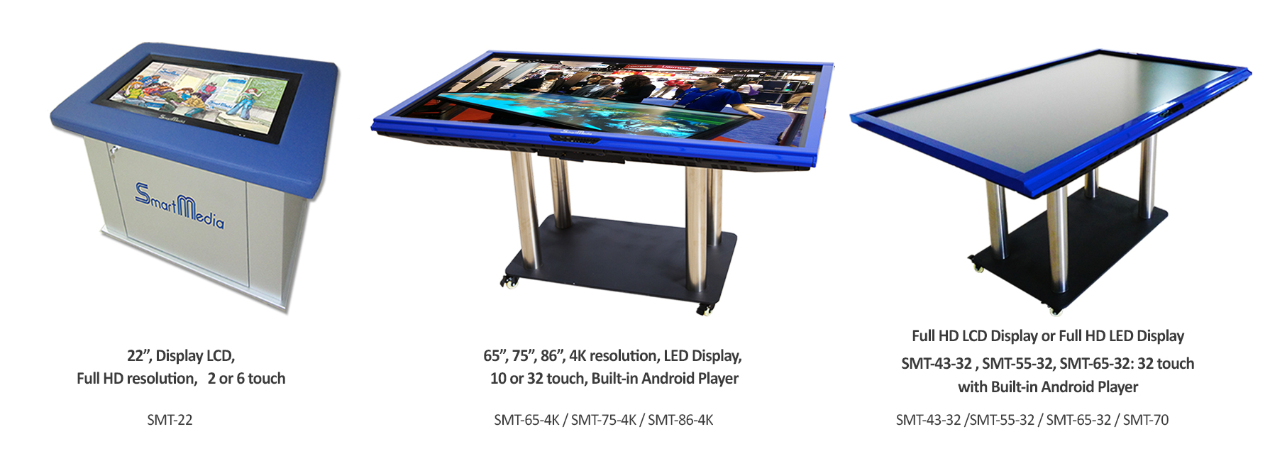 SmartMedia Interactive Touch-screen tables