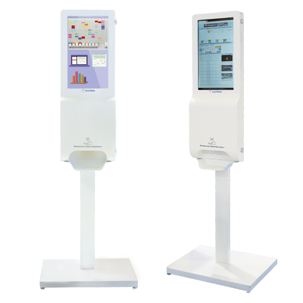 "TOTEM 21,5"" per Digital Signage - No touch - con Dispenser igienizzante"