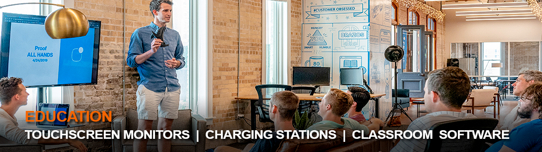 TOUCHSCREEN MONITORS  |  CHARGING STATIONS  |  CLASSROOM  SOFTWARE