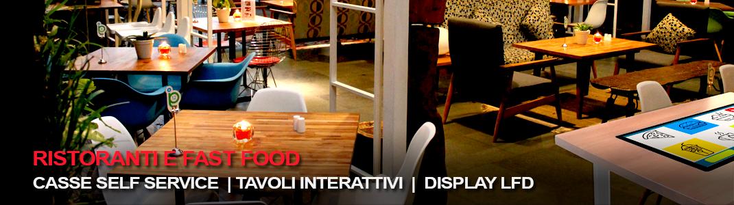 Ristoranti e Fast Food: tecnologia interattiva per interagire con il cliente, aumentare la produttivitá e diminuire i costi di gestione