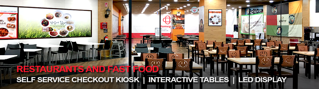 Restaurants and Fast Food: interactive technology to interact with the customer, increase productivity and decrease management costs